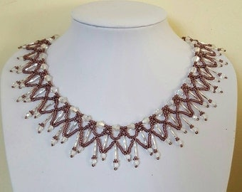 Lacey pink necklace
