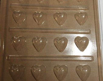 Puff Heart cupcake topper chocolate mold