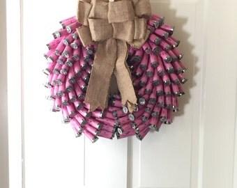 Pink Shotgun Wreath