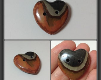 Jasper button 28x29x10mm