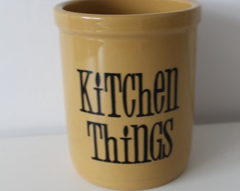 T G Green Kitchen Things Utensils Storage Container 80s White / Green