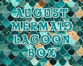 AUGUST Mermaid Lagoon Box Boxes will ship August 1st READ description before purchasing  Valued at 54.00+
