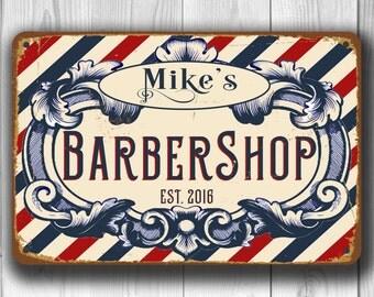 Custom BARBERSHOP SIGN, Barbershop Sign, Vintage style Barbershop Sign,Barber Signs, personalized barbershop sign, Customizable Barbers Sign