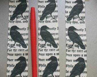 The Raven Bookmark, Edgar Allan Poe, Quoth the Raven, Nevermore