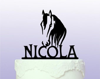 Personalised Horse Cake Topper