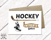 Hockey Father's Day Card - Skates and Stick