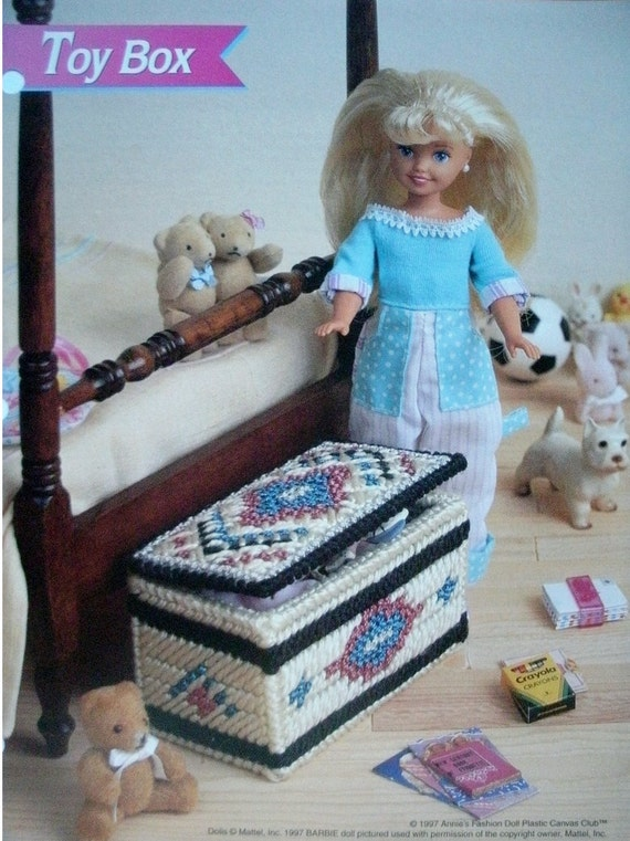 Modern Toy Box Living Room: Toy Box Plastic Canvas Pattern For Barbie Or Fashion Doll
