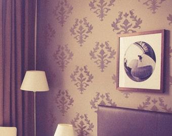 Original Damask Stencil - Wall Stencil - Allover Stencil - Repeatable Damask Stencil