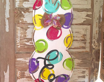 Easter Door Hanger - Personalized Door Hanger - Easter Decor - Easter Decorations - Bunny Door Hanger - Easter