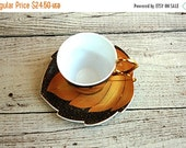 HOLIDAY SALE This is a lovely vintage Germany collectable gold tea cup and saucer set. In very good vintage