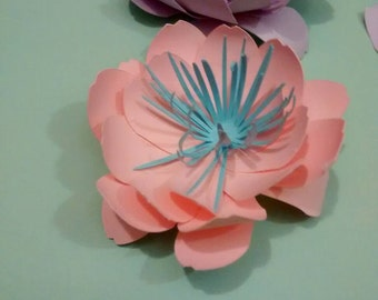 Paper peonies, flowers, placeholder, party decorations and home