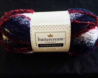 "Buttercream Rainbow Boucle in ""America"""