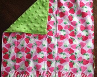 Strawberry Lovie Blanket