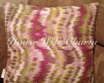 Upcycle purple green haze accent Pillow with Zipper- Cover Only- Ready to ship!