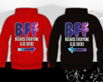 Best Friend FOREVER (BFF) 2 Matching Hoodies, 2 Couple Sweatshirts