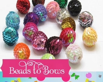 24mm Bubblegum Sequin Beads, 10 for 2.99 Chunky Beads, Quantities Limited, Beautiful Sparkling Sequin Bead, Chunky Necklace Bead, DIY Supply