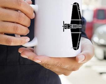 KillerBeeMoto: U.S. Made Douglas SBD Dauntless Aircraft On A White Coffee Mug