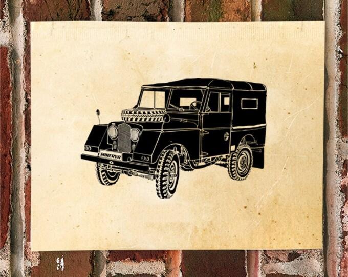 KillerBeeMoto: Limited Print Vintage Minerva Land Rover Print 1 of 50