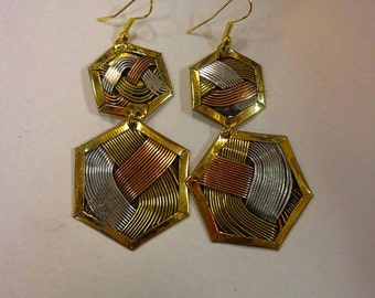 Copper African Fashion Earrings