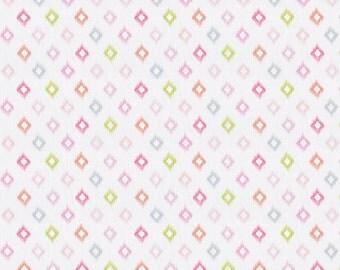 Pink Ikat Diamonds Fabric - By The Yard - Girl / Modern / Fabric