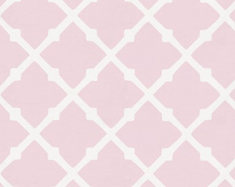 Pink Lattice Organic Fabric - By The Yard -  Girl / Geometric / Fabric