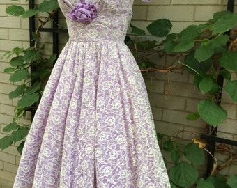 Vintage purple and lace dress