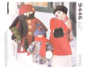 McCall's 9446 Snowman Greeters' Sewing Pattern, one size