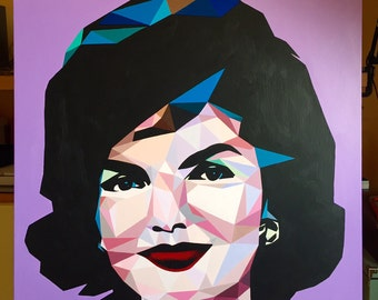 "Acrylic on canvas ""Jackie Kennedy"""