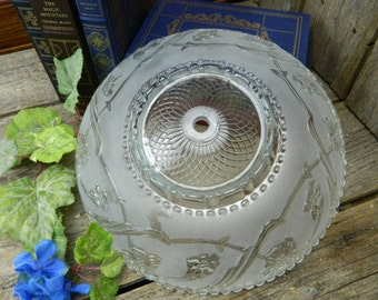 Beautiful Art Deco Frosted Glass Ceiling Light Shade