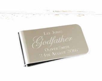 Father of the Bride Gift | Father of the Groom Gift | Godfather gift | Best Man Gift | Personalised Money Clip (B007)