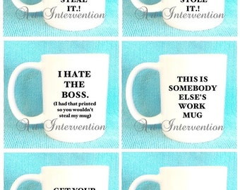 Funny Adult Work Mugs - This is MY work mug so don't F'ing steal it & more