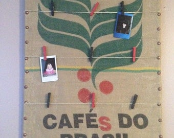 Recycled Coffee Sack Memo Board