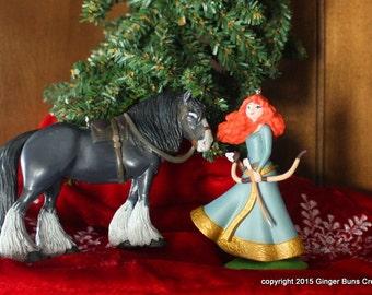 Brave Merida and Angus ornament set LAST ONE