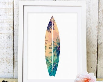30% OFF SALE Surfboard Print, Surfboard Wall Art, Tropical Print, Wall Decor,  Summer Wall Art, Beach House Decor,Printable Art,Beach Prints