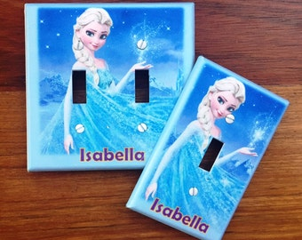 Disney Frozen Elsa Light switch cover girls room Personalized // SAME DAY SHIPPING**!!