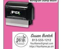 Perfectly Posh Stamp, Perfectly Posh Catalog Stamp, Perfectly Posh Consultant Rectangle Stamp