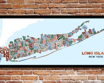 Long Island, New York – The cities, towns, villages and hamlets that make up Long Island