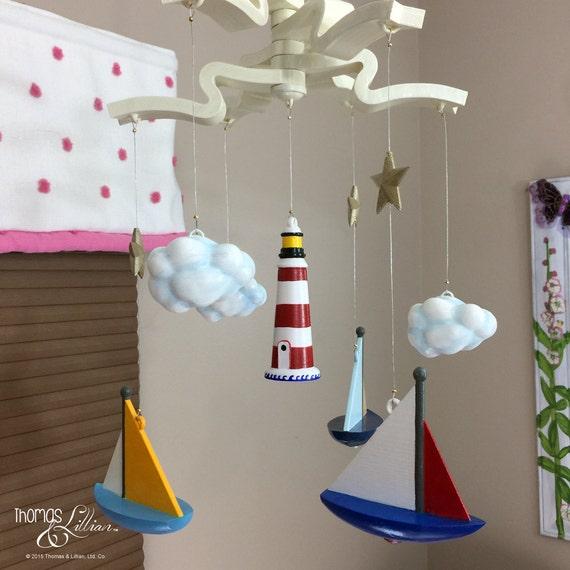 segelboot segelboot kinder mobile mobile segelboot baby. Black Bedroom Furniture Sets. Home Design Ideas