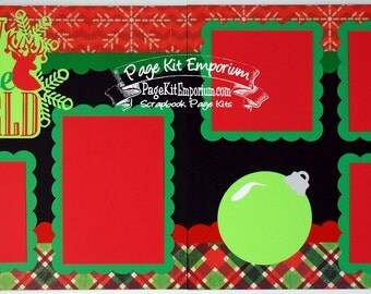 Scrapbook Page Kit Christmas Joy To The World Boy Girl Baby 2 page Scrapbook Layout 85