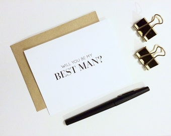 Wedding Card - Will You Be My Best Man? | Wedding Party Card, Bride and Groom, Groomsman card, Mr and Mrs, Wedding Planning
