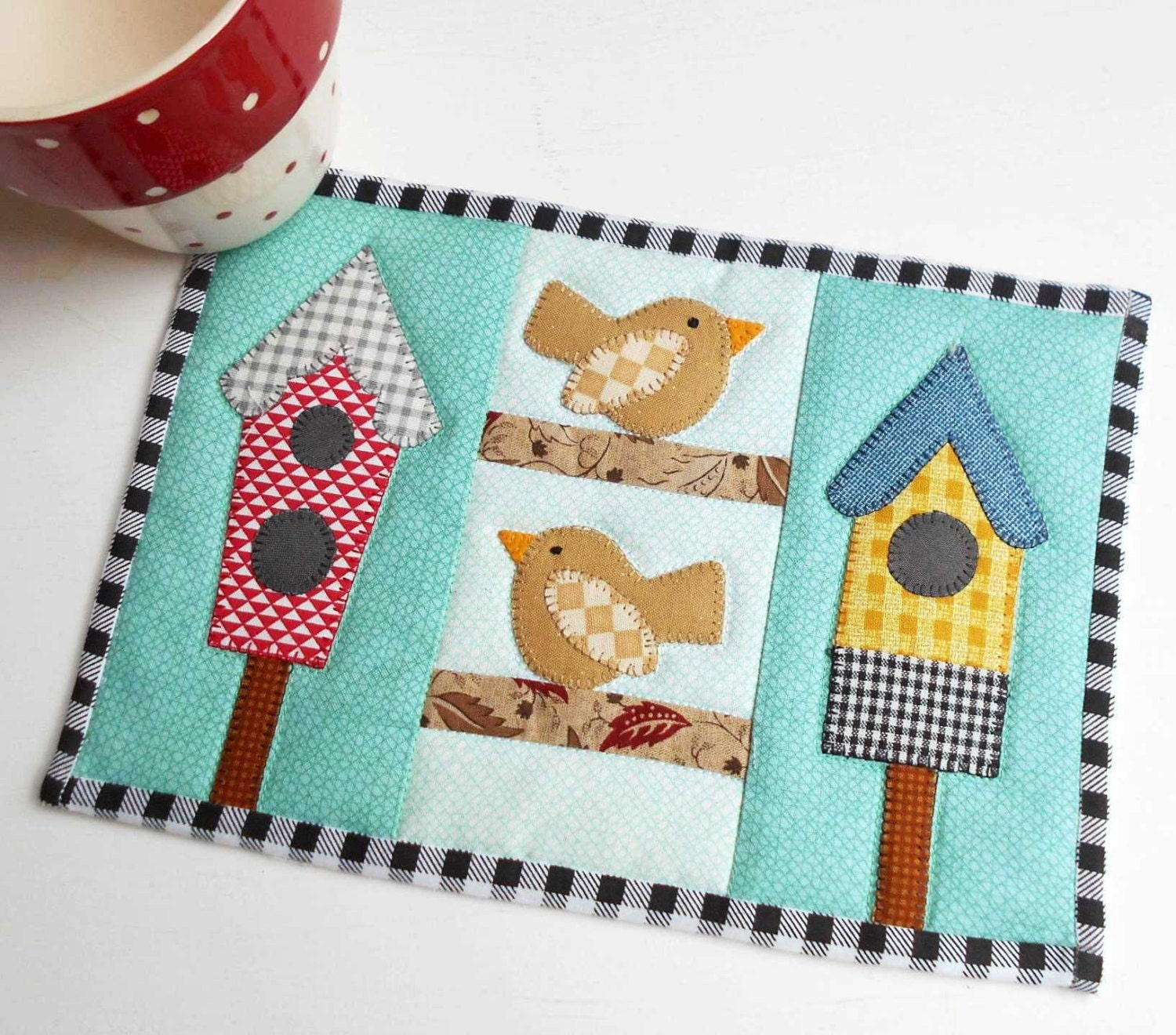 Summer Birdhouse Mug Rug Pattern From Patchsmith On Etsy
