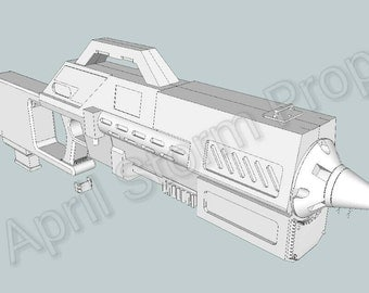 Rose Tyler Dalek blaster from Doctor Who 3d printed cosplay prop full size.
