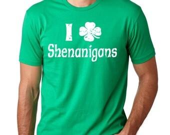 Shamrock T-Shirt Clover Shenanigans Tee Shirt Lucky Charm Tee Shirt