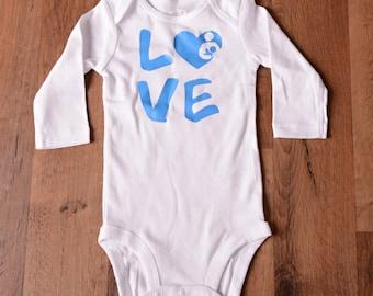 Infant bodysuit - Breastfeeding Love - Baby Shower Gift