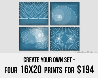 Nerd Posters - Create Your Own Set of 4 16x20 Prints