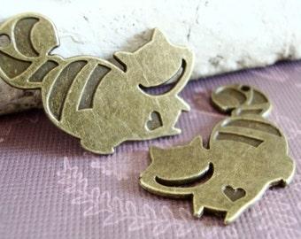 Fantasy Cat Charm,Nursery Rhyme Charm,Wonderland,Alice