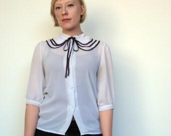 The Prim Schoolmistress Blouse