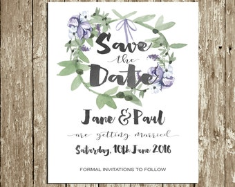 electronic save the date templates - save the date signs etsy