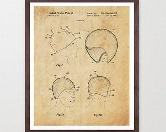 Swimming Patent - Swim Cap - Swimming Cap Patent - Swimming Poser - Swimming Art - Swimming Poster - Pool - Pool Art - Swimmer -