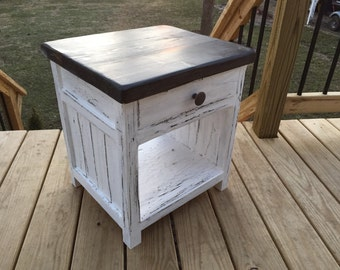 Rustic Farmhouse Nightstand